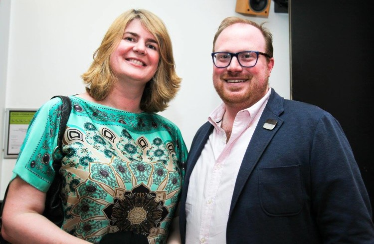 Barbara Culinane, Deputy Ambassador Embassy of Ireland, London and Cian O'Brien, Artistic Director, Project Arts Centre