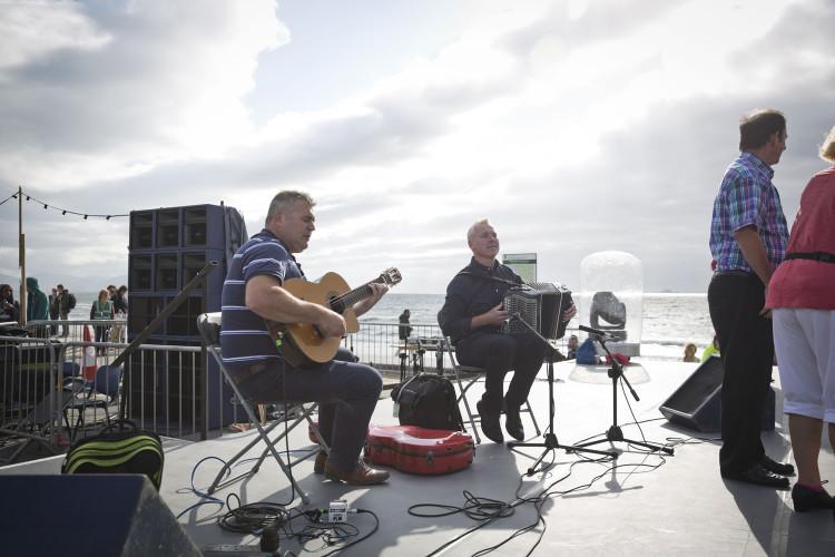 Donal Murphy and Sean Murphy, musicians for Paddy Hanafin's Céilí