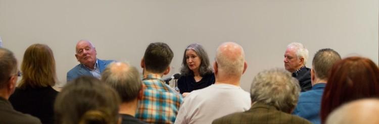 Jeffrey Dudgeon, Caitriona Crowe and Gerry Kearns (Photo Pari Naderi)